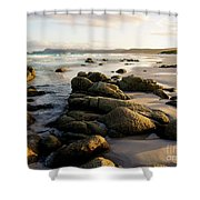 Early Morning At Friendly Beaches Shower Curtain