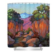 Early Morning At Indian Canyon Shower Curtain