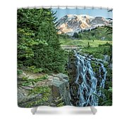 Early Morning At Myrtle Falls Shower Curtain