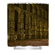 Early Morning At The Aqueduct Of Segovia Shower Curtain