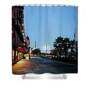 Early Morning At The Bohemian Hotel Shower Curtain