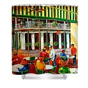 Early Morning At The Cafe Du Monde Shower Curtain