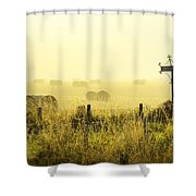 Early Morning At The Farm Shower Curtain