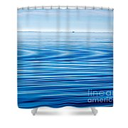 Early Morning Blues Shower Curtain