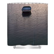 Early Morning Boat Shower Curtain