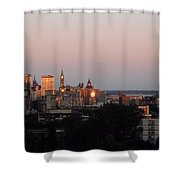 Early Morning Canada Day Shower Curtain