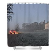 Early Morning Car Lights Shower Curtain