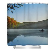 Early Morning Catch Shower Curtain