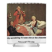 Early Morning Chocolate Shower Curtain