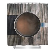 Early Morning Coffee  Shower Curtain