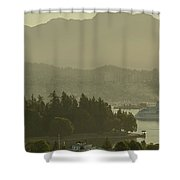 Early Morning Cruise Ship Arrival Shower Curtain
