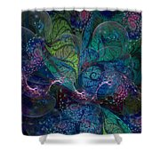 Early Morning Dew Sparkles Shower Curtain