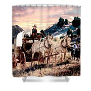 Early Morning Drive Shower Curtain