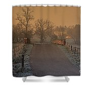 Early Morning Driveway Shower Curtain