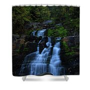 Early Morning Falls Shower Curtain