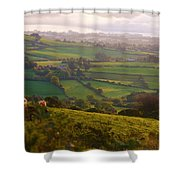 Early Morning Glory Shower Curtain