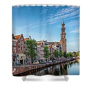 Early Morning In Amsterdam With Canal Shower Curtain