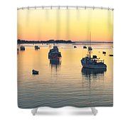 Early Morning In Chatham Harbor Shower Curtain