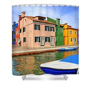 Early Morning In Isola Di Burano Shower Curtain