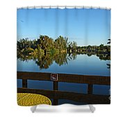 Early Morning In Lakes Park Fort Myers  Shower Curtain