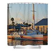 Early Morning In The Harbor Shower Curtain