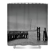 Early Morning Fog In The San Francisco Bay Shower Curtain