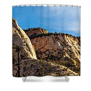 Early Morning In Zion Canyon Shower Curtain