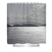 Early Morning Island View Shower Curtain
