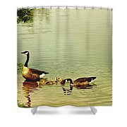 Early Morning Lessons Shower Curtain