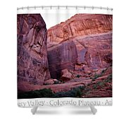 Early Morning Mystery Valley Colorado Plateau Arizona 04 Text Shower Curtain
