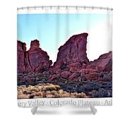 Early Morning Mystery Valley Colorado Plateau Arizona 05 Text Shower Curtain