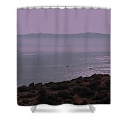 Early Morning On Southern Greek Coast Shower Curtain