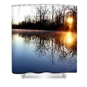 Early Morning On The Canal Shower Curtain