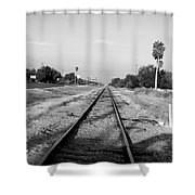 Early Morning On The Rail  Shower Curtain