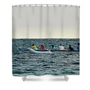 Early Morning Outing Shower Curtain