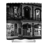 Early Morning Paseo Del Prado Havana Cuba Bw Shower Curtain