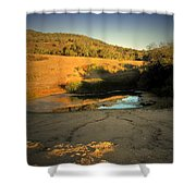 Early Morning Pond Shower Curtain
