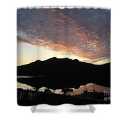 Early Morning Red Sky Shower Curtain