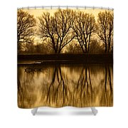 Early Morning Reflections Shower Curtain