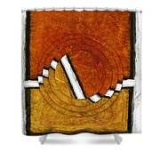 Early Morning Rounds Abstract Shower Curtain