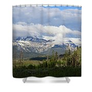 Early Morning Sawtooths Shower Curtain