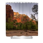 Early Morning Solitude At Zion  Shower Curtain