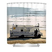Early Morning Surf Shower Curtain