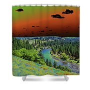 Early Morning Thoughts Shower Curtain