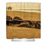 Early Morning Tybee Beach Shower Curtain