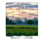 Early Morning Warmth Shower Curtain