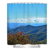 Early Mountain Autumn Shower Curtain