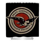 Early Pratt And Whitney Company Logo Shower Curtain