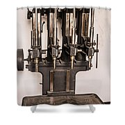Early Press From Car Manufacturing 2 Shower Curtain