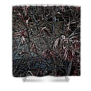 Early Spring Abstract Shower Curtain